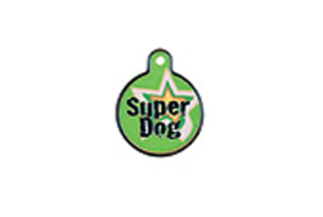 Premium - Circle Large raised edge 'Super Dog'