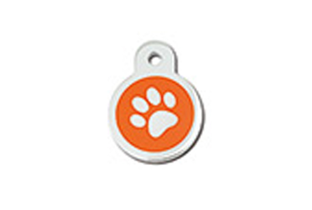 Premium - Circle Small Epoxy Orange Paw